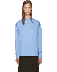 EACH X OTHER Blue Band Collar Shirt