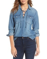 Madewell Lace Up Denim Shirt