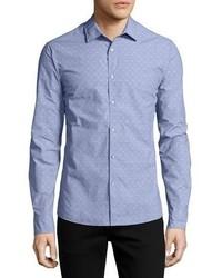 Michael Kors Michl Kors Dobby Dot Slim Shirt Blue