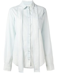 MSGM Light Wash Denim Shirt