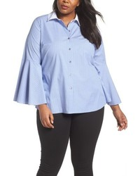 Vince Camuto Plus Size Bell Sleeve Cotton Shirt