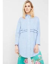 Mango Ruffled Poplin Shirt