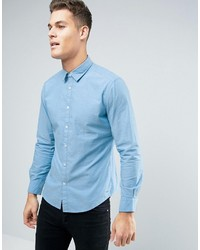 Esprit Shirt In Slim Fit With Jaquard Stitch Detail