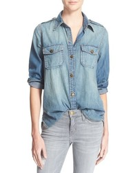 Current/Elliott The Perfect Button Front Denim Shirt