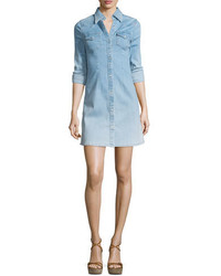 Ag jacqueline button front chambray shirtdress crane medium 651955