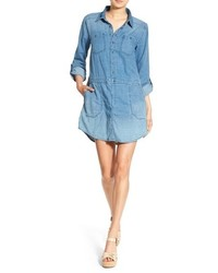 Blanknyc swagaway cotton chambray shirtdress medium 757463