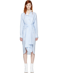 Blue asymmetric shirt dress medium 1188072