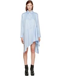 MARQUES ALMEIDA Blue Asymmetric Shirt Dress