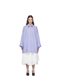 Acne Studios Blue Suky Shirt Dress