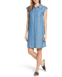 Michl michl kors patch pocket chambray shirtdress medium 3731252