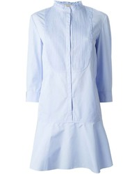 Nina Ricci Ribbed Bib Shirt Dress