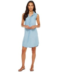 Mod-o-doc Tencel Chambray Sleeveless Shirtdress Dress