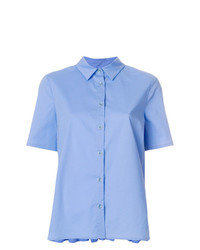 Twin-Set Back Pleated Shortsleeve Shirt