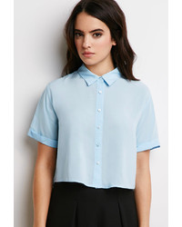 Forever 21 Boxy Cropped Shirt