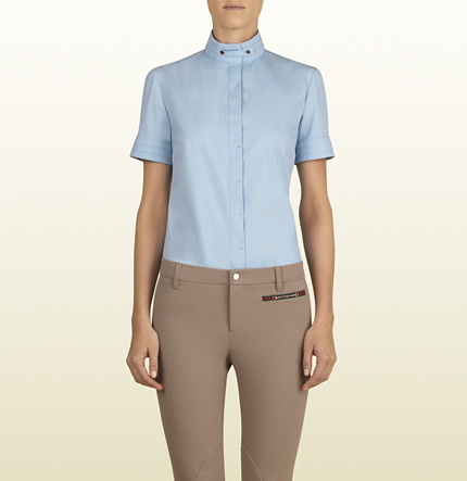 120d4ec0 Gucci Sky Blue Short Sleeve Shirt From Equestrian Collection, $495 ...