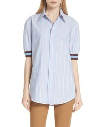 N21 stripe cotton shirt medium 8852020