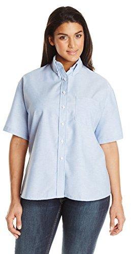 Red kap plus size executive oxford shirt where to buy for Plus size light blue shirt