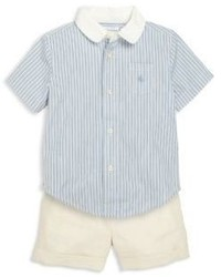 Ralph Lauren Babys Two Piece Poplin Shirt Shorts Set