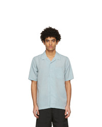 Soulland Blue And Orange Pappy Short Sleeve Shirt