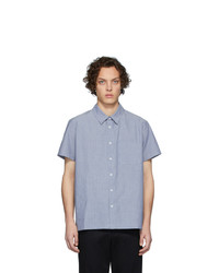 A.P.C. Blue Bruce Short Sleeve Shirt