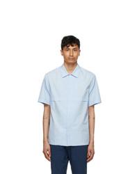 Barena Blue Bufaor Bagio Short Sleeve Shirt