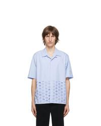 Maison Margiela Blue Cotton Poplin Shirt