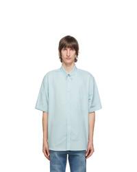 Gucci Blue Gg Short Sleeve Shirt