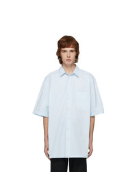 Raf Simons Blue Logo Big Fit Short Sleeve Shirt