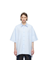 Givenchy Blue Oversize Patch Shirt