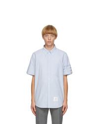 Thom Browne Blue Oxford Cloth 4 Bar Shirt