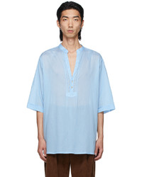 Gucci Blue Tunic Short Sleeve Shirt