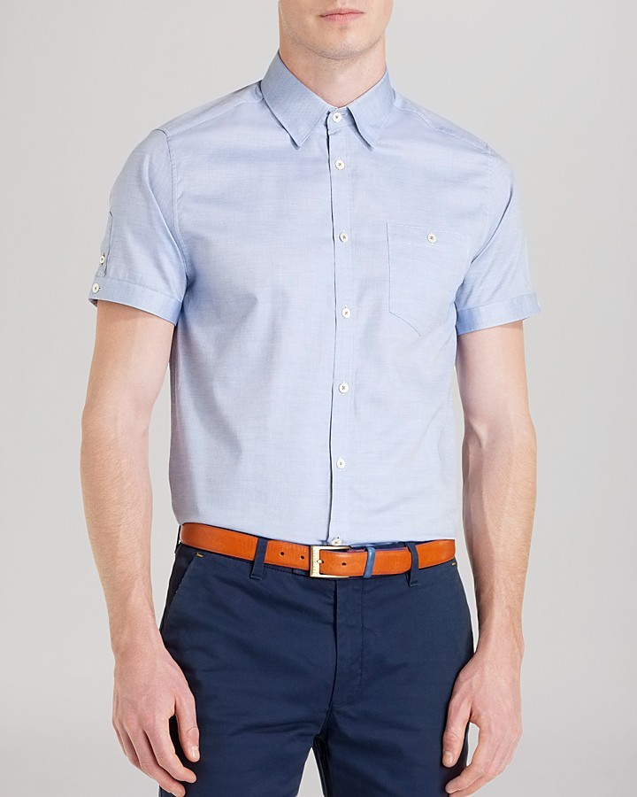 Ted Baker Donot Oxford Solid Button Down Shirt Slim Fit | Where to ...