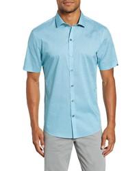 Zachary Prell Ehlinger Regular Fit Short Sleeve Button Up Sport Shirt