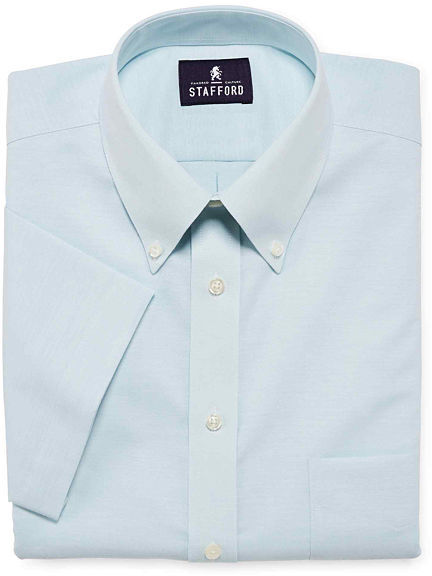 Jcpenney stafford travel short sleeve wrinkle free oxford for Where to buy stafford dress shirts