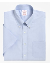 Brooks Brothers Non Iron Traditional Fit Short Sleeve Dress Shirt