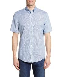 Nordstrom Men's Shop Nordstrom Shop Regular Fit Non Iron Short Sleeve Shirt