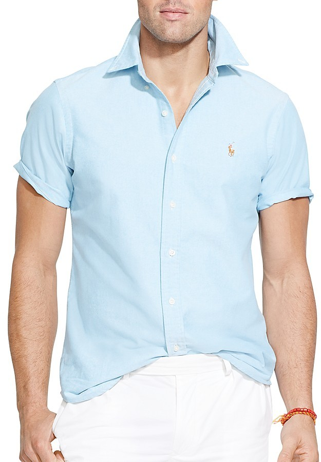 Ralph Lauren Polo Short Sleeve Oxford Button Down Shirt Classic ...
