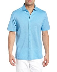 Bugatchi Regular Fit Heather Knit Sport Shirt