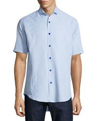 Bogosse Short Sleeve Sport Shirt Light Blue