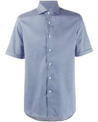 Canali Short Sleeved Patterned Shirt