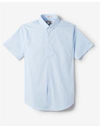 Express Slim Easy Care Short Sleeve 1mx Shirt