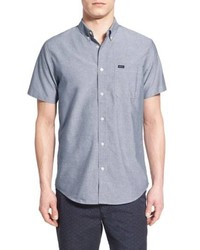 RVCA Thatll Do Slim Fit Short Sleeve Oxford Shirt