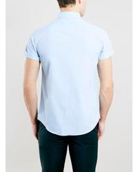 2e36cd2dd62 ... Topman Light Blue Button Down Short Sleeve Dress Shirt ...