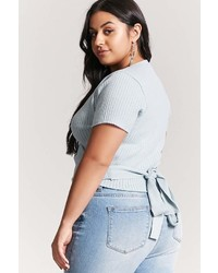 Forever 21 Plus Size Ribbed Wrap Top