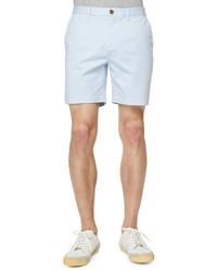 Burberry Brit Cotton Blend Shorts Light Blue