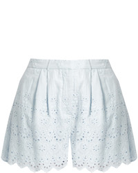Zimmermann Broderie Anglaise Cotton And Silk Blend Shorts