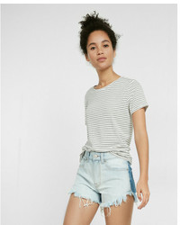 Express High Waisted Two Tone Cutoff Shorts