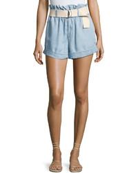MinkPink Mink Pink Clean Cut Belted Paperbag Shorts