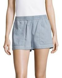 BCBGMAXAZRIA Woven Cotton Blend Shorts