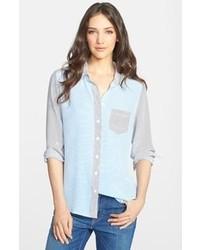 668d6a79 Light Blue Silk Button Down Blouses for Women | Women's Fashion ...